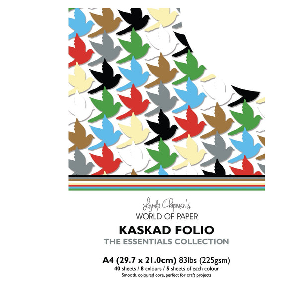 Kaskad Folio Essentials Collection A4 225gsm Coloured Core Cardstock 40 sheets