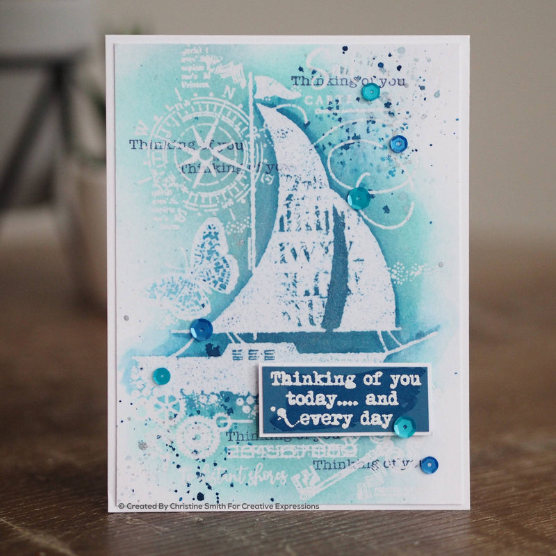 Woodware Clear Singles Sail Away  4 in x 6 in Stamp