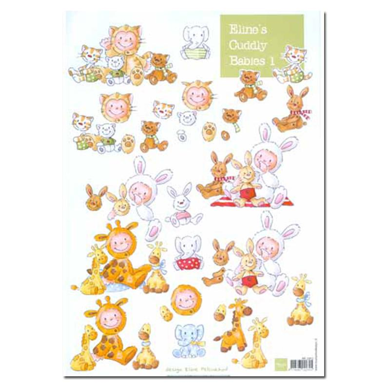 Marianne Design Baby Animals Cutting Sheet Pack 8 A4 Sheets