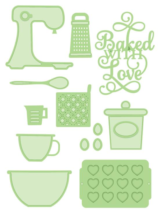 Necessities Collection Baked With Love Die