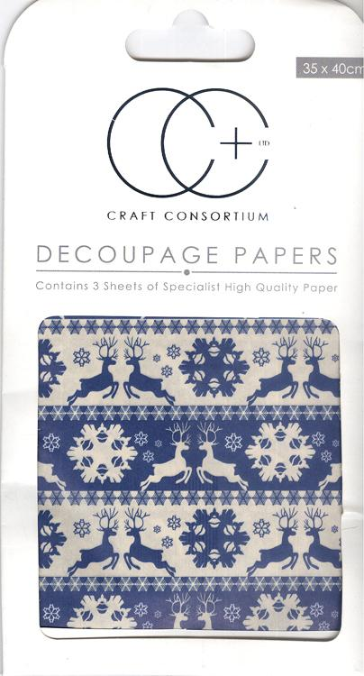 Nordic Stripes Decoupage Papers