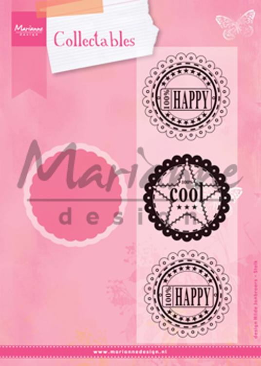 Marianne Design: Collectables Die & Stamp Set - Scallop Die & Sentiment