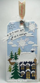 Marianne Design: Collectables Dies & Stamp Set - Xmas Village 2
