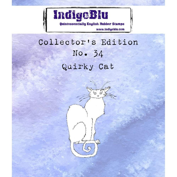 Collectors Edition #34 Quirky Cat Red Rubber Stamp