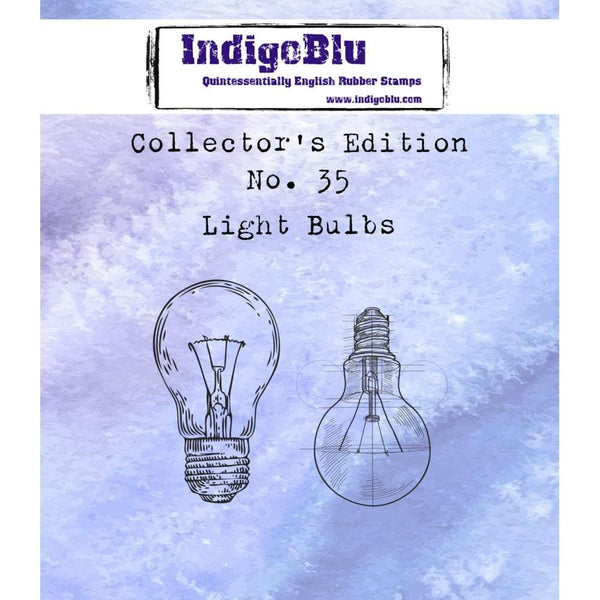 Collectors Edition #35 Light Bulbs Red Rubber Stamp