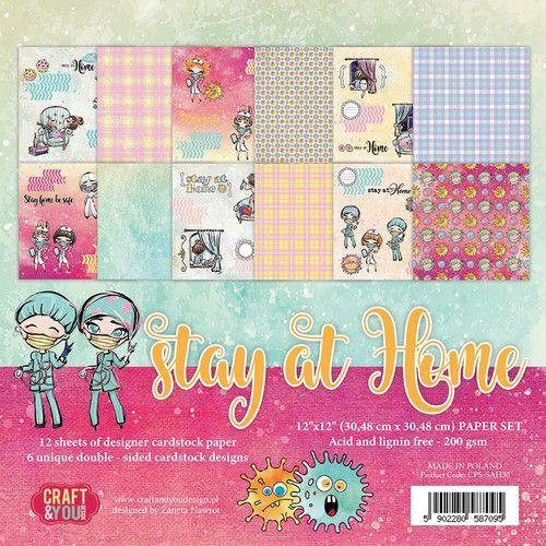 Craft & You Design Stay at Home 12x12 Paper Set