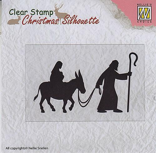 Christmas Silhouette Clear Stamps Nativity
