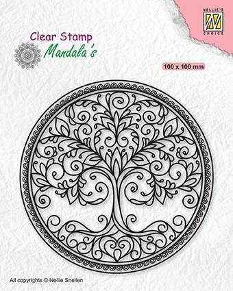 Clear Stamp Mandalas Circle With Tree