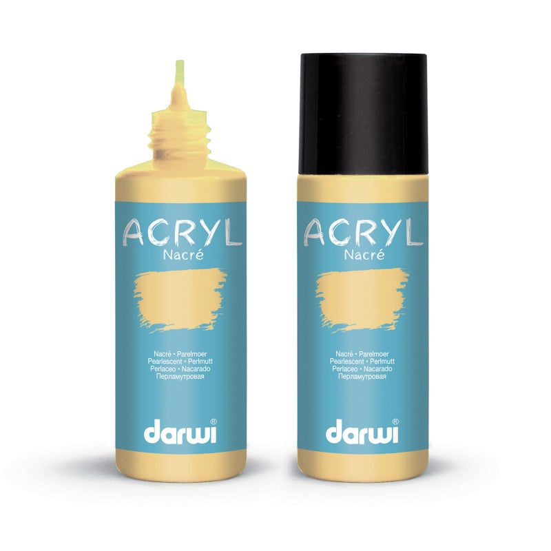 Darwi Acrylic Pearlescent Paints 80mL - Pearlescent