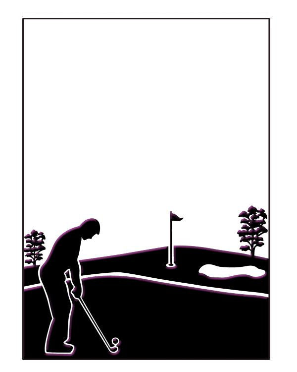 Embossing Folder - Golfing Day Size 5 x 7