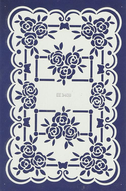 English Embossing Stencil - Roses (EE3408)