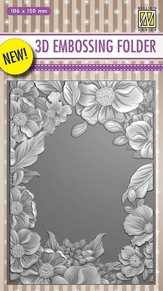 Nellie Embossing 3D Folder - Flower Frame