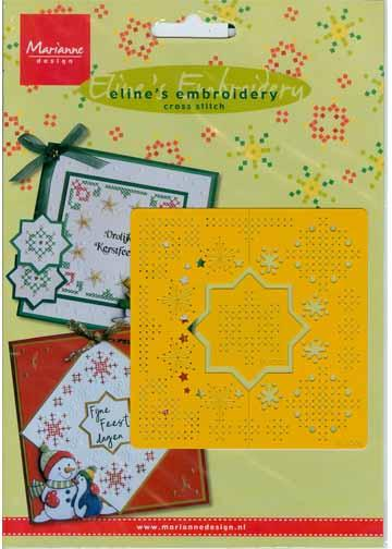 Cross Stitch Stencil Stars and Snowflakes