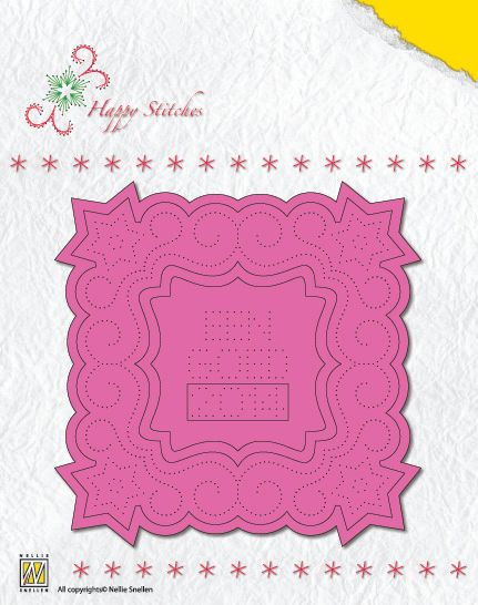 Stitching Dies - Happy Stitches Christmas Square 1