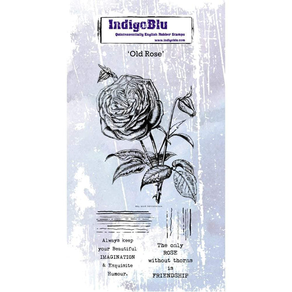 Old Rose DL Red Rubber Stamp
