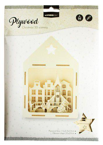 SL 3D Scenery City shopping Plywood 150x46x220mm  nr.14