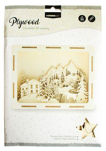 SL 3D Scenery Mountain Village Plywood 200x46x150mm  nr.16