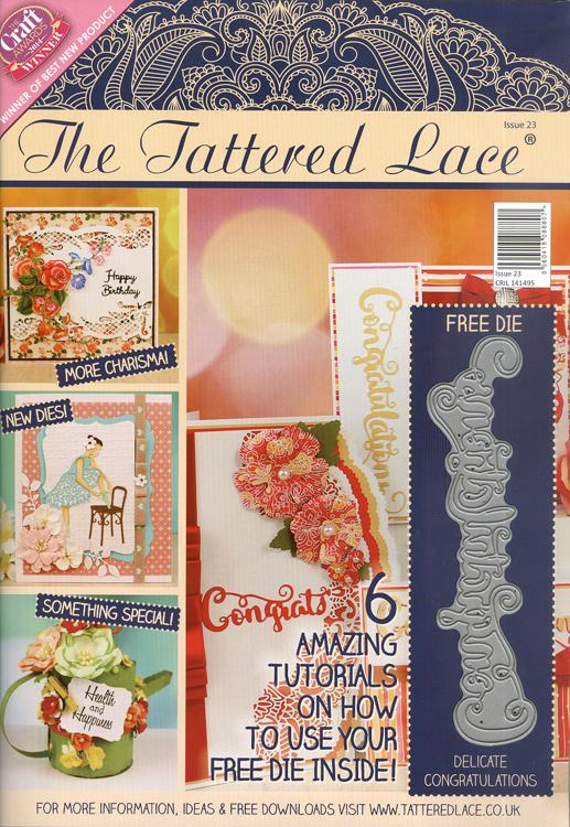 Tattered Lace Magazine #23 (includes Free Die)