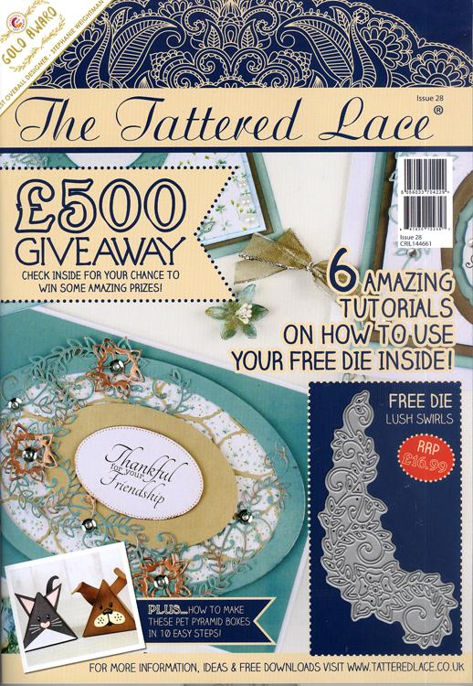 Tattered Lace Magazine #28 (includes Free Die)