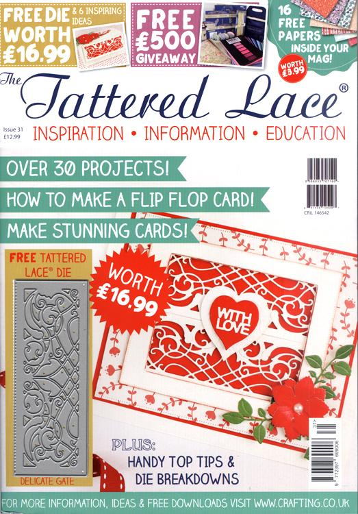 Tattered Lace Magazine #31 (Includes FREE die-Delicate Gate)