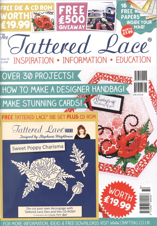 Tattered Lace Magazine #32 (Includes FREE Die Set PLUS CD ROM)
