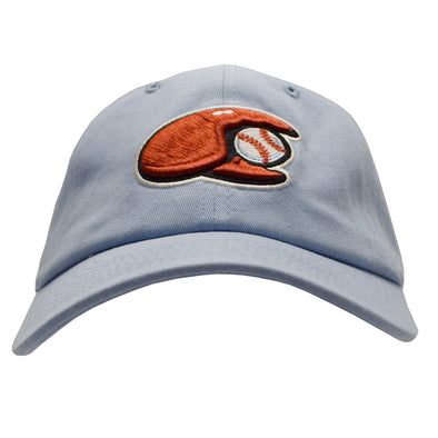 Hickory Crawdads Blue with Claw Logo Adjustable Hat