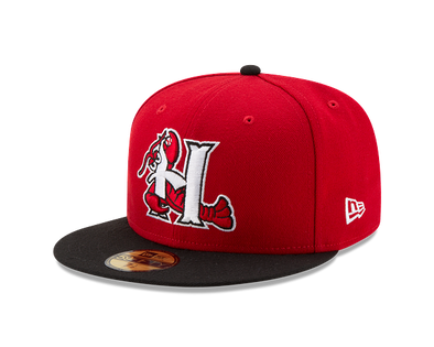 Hickory Crawdads Home On-Field Fitted Hat