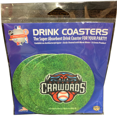 Hickory Crawdads Coasters
