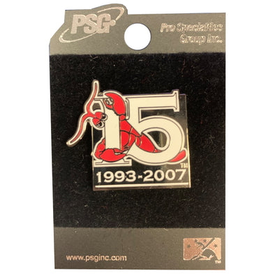 Hickory Crawdads 15th Anniversary Pin