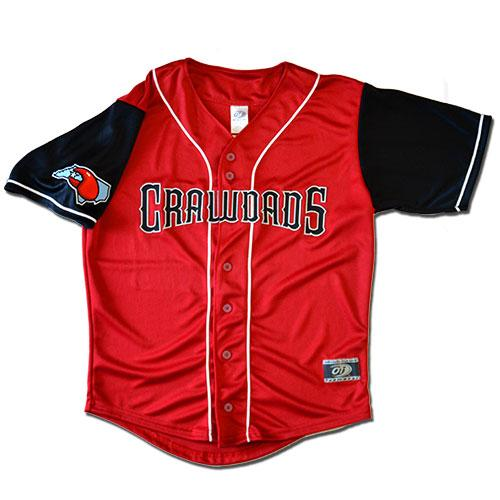 Hickory Crawdads Authentic Home Jersey