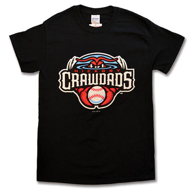 Hickory Crawdads Black Youth Primary Tee