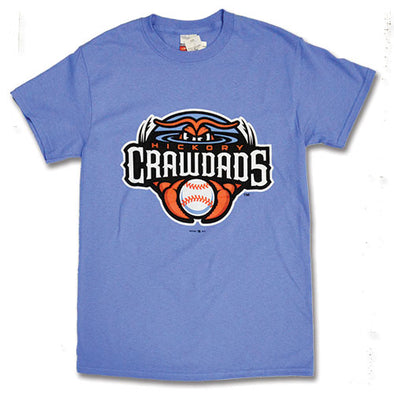 Hickory Crawdads Youth Blue Primary Tee