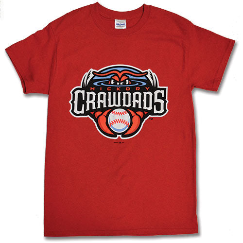 Hickory Crawdads Red Youth Primary Tee