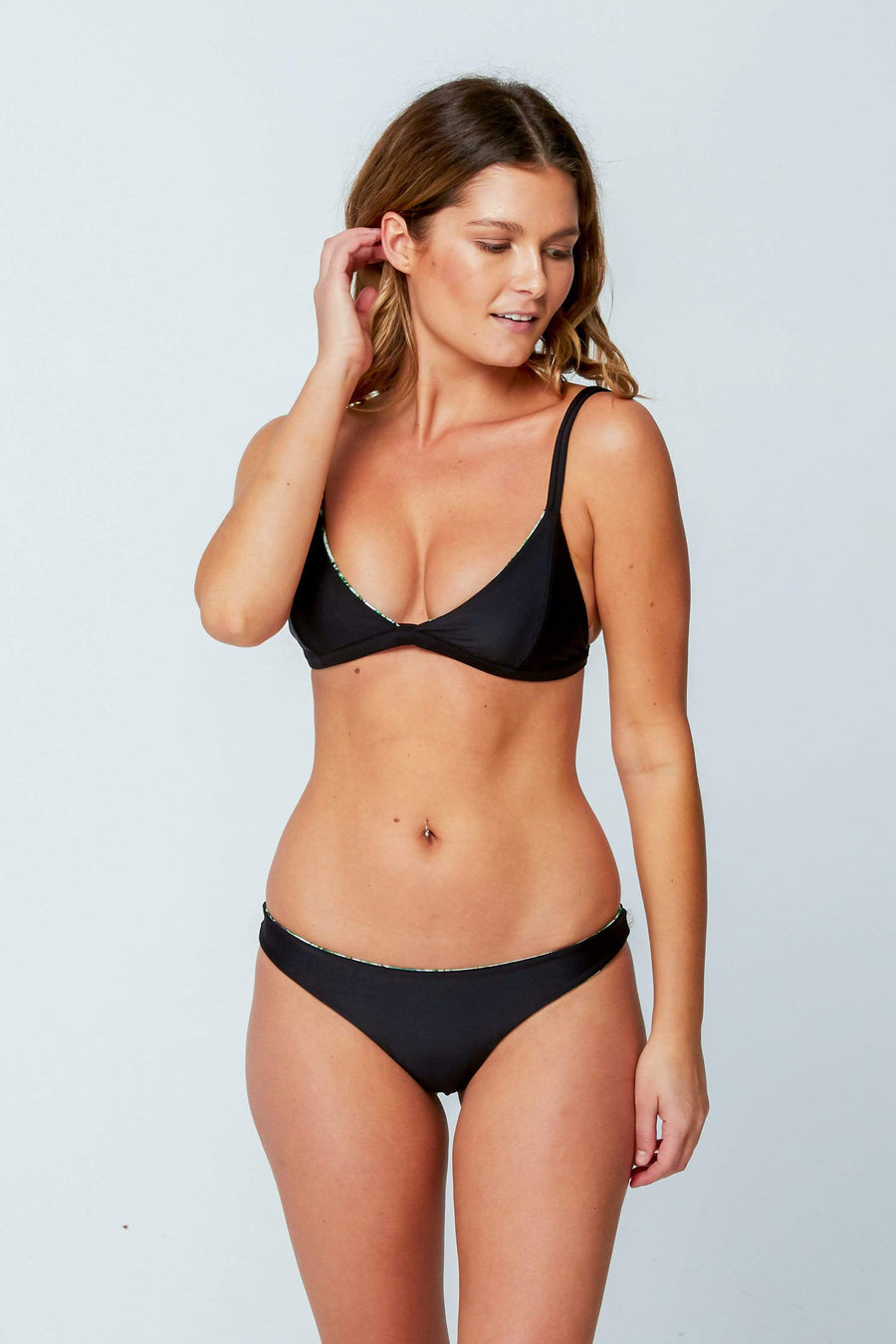 Aloe Swimwear Bottoms CHLOE BOTTOMS IN PALM
