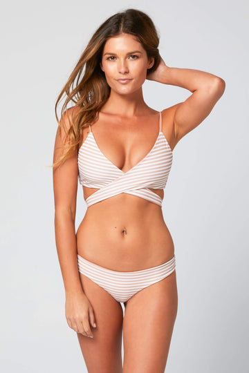 Aloe Swimwear Tops CARPE TOP IN CREAM BATH