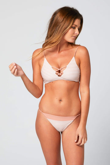 Aloe Swimwear Tops SEYCHELLES TOP IN CREAM BATH