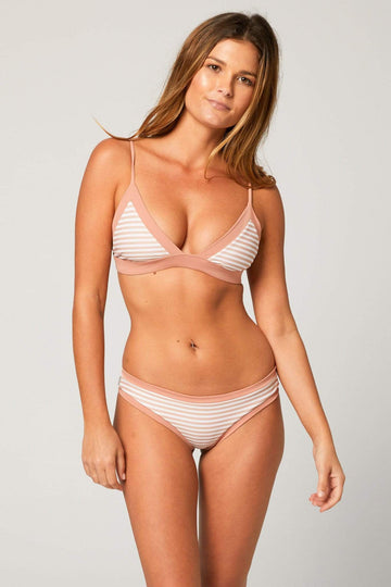 Aloe Swimwear Tops SPLIT TOP IN CREAM BATH