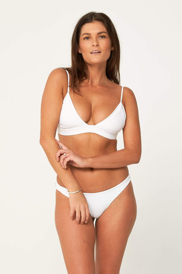Aloe Swimwear Tops SPLIT TOP IN OYSTER