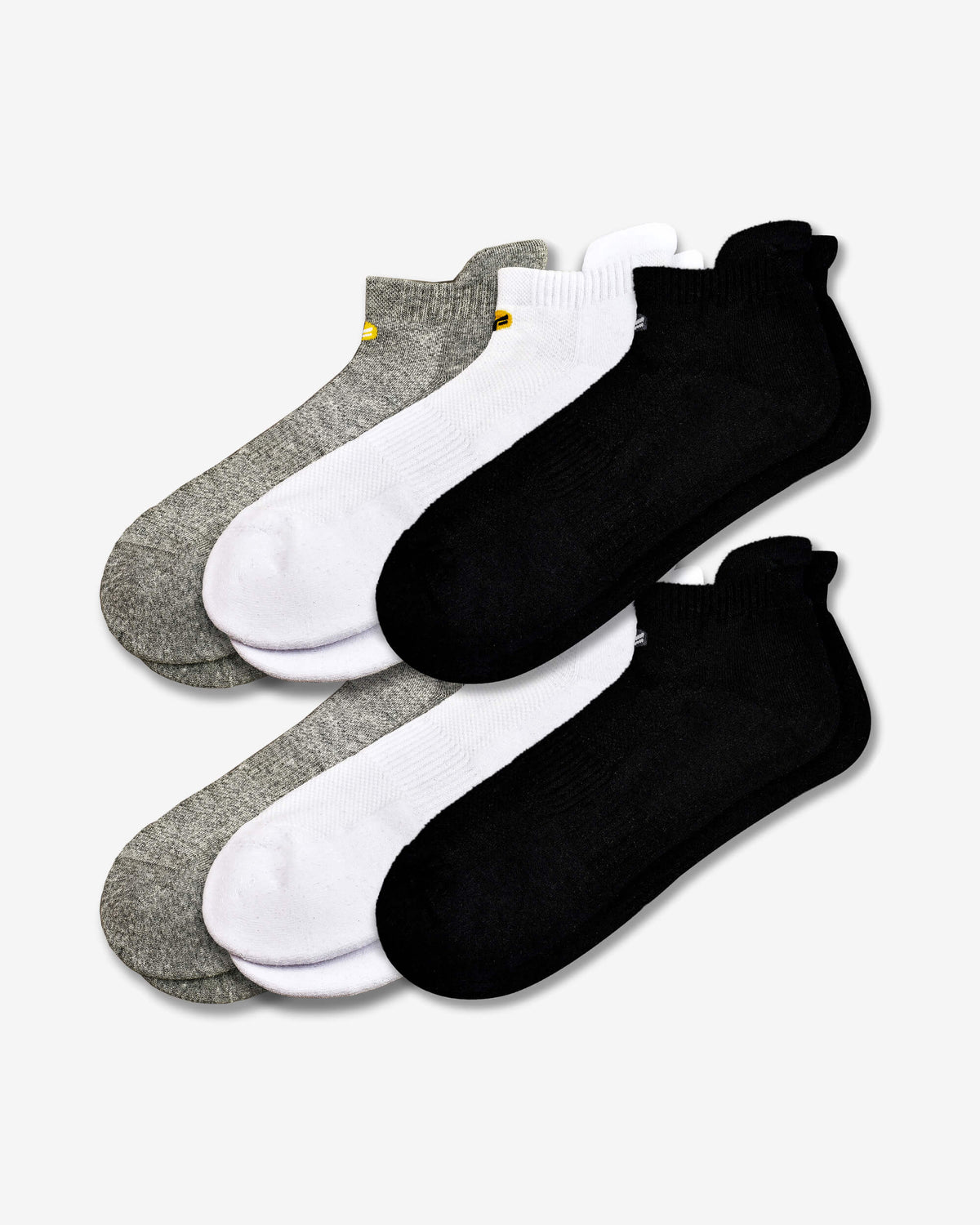 FitVille Long Staple Low Ankle Socks Pack Of 6 - FitVille Shoes