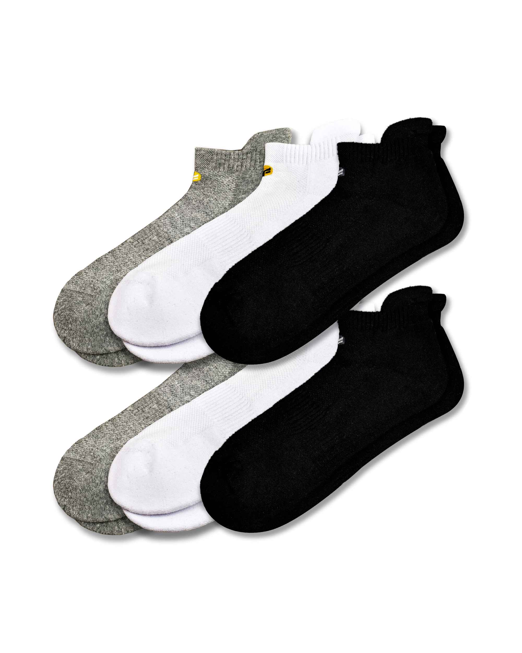 FitVille Long Staple Low Ankle Socks Pack Of 6