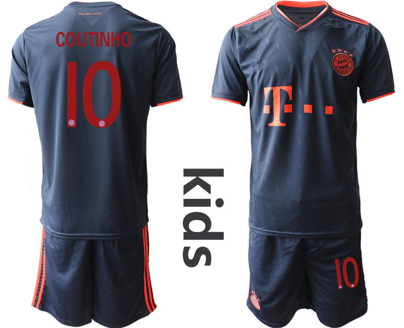 Fc Bayern Munchen Kids Second Away 10 Coutinho 2019 2020 Football Club Customsto