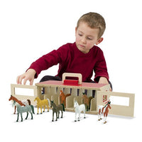 Take-Along Show-8 Horse Stable Play Set