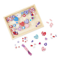 Heart Beads Wooden Bead Kit. Created by Me!