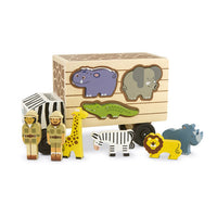 Safari Animal Rescue Truck Wooden Play Set