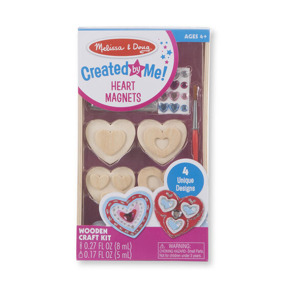 Heart Magnets Wooden Craft Kit. Created by Me!