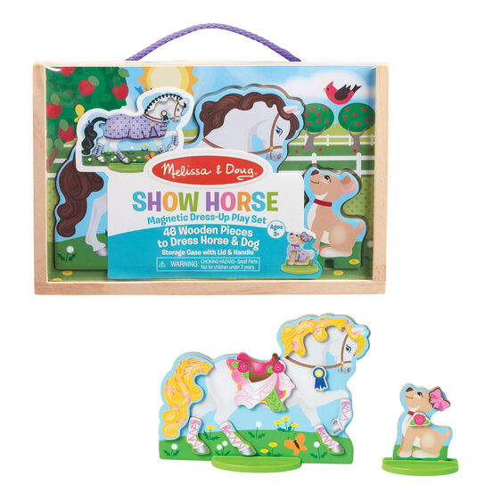 Show Horse Magnetic Dress-Up Play Set