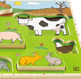 HAPE Farm Animals Wooden Stand Up Puzzle