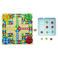 Wooden Ludo & Tic Tac Toe Tin Game