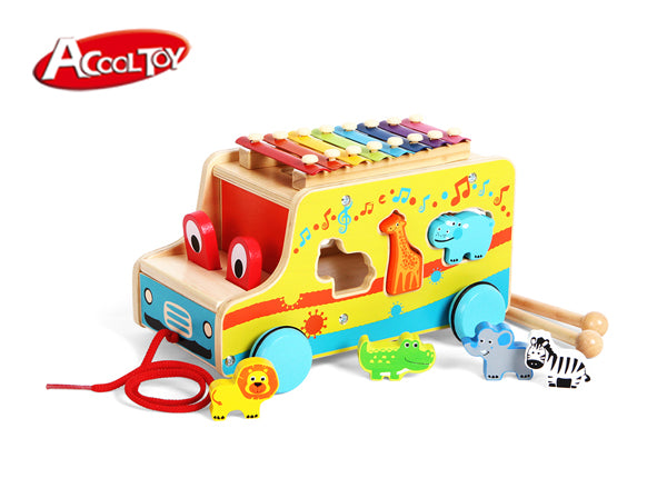 Shape Sorter Xylophone Pull Animal Bus