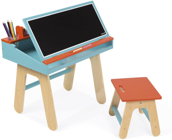 JANOD Desk & Chair - Orange & Blue Desk & Chair